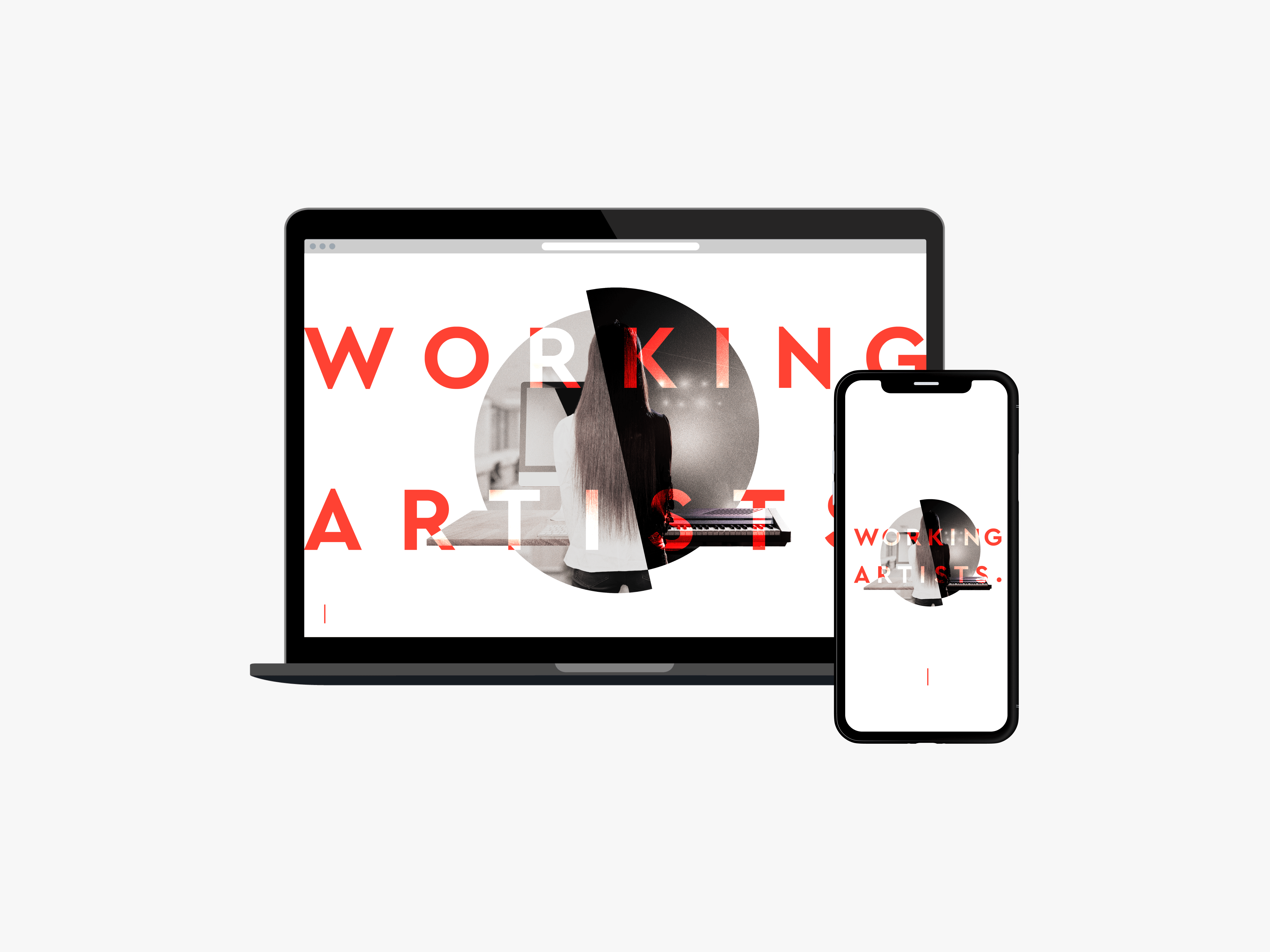 WORKING ARTISTS. Service Brandingのサンプル画像です